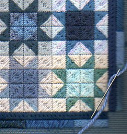 winter stars quilt needlepoint pattern free border