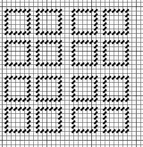 grouped squares for needlepoint