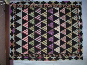 striped triangle quilt