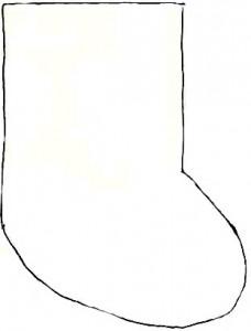 outline for mini sock