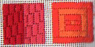 needlepoint quilt sampler in mod colors two blocks