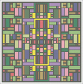 abstract chart for cross stitch design