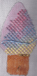 overdyed thread in needlepoint, janet perry's color cloud technique