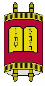 torah judaic needlepoint design free from craft stew