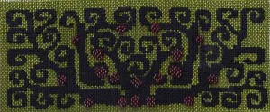 tree hand painted canvas needlepoint from Dream House, stitch guide by Janet Perry