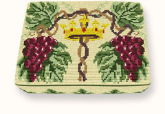 crowned vine needlepoint kneeler