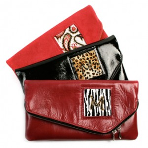 leather clutches to finish yourself with needlepoint