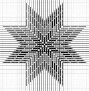 needlepoint chart for eight point star (National Star) designed by Janet Perry