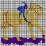 berlinwork pony needlepoint chart