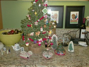 toy tree with needlepoint mice and trees, copyright Napa Needlepoint