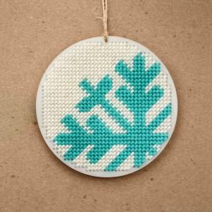 needlepoint snowflake ornament