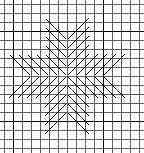 needlepoint 8 point star, diagrammed by needlepoint expert janet m. perry
