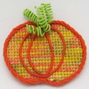You can stitch this pumpkin pin quickly!