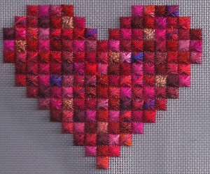 Rhodes Scrap Bag Heart, copyright Napa Needlepoint