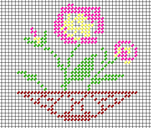 Anne Orr design, rechart copyright Napa Needlepoint
