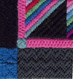 Amish Roman Stripe Pillow, copyright Napa Needlepoint