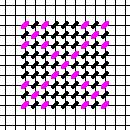 Double Nine Patch chart, copyright Napa Needlepoint
