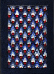 bargello needlepoint book cover