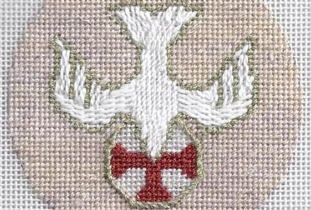 Holy Spirit needlepoint ornament