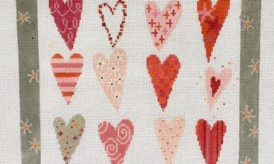 twelve heartsneedlepoint