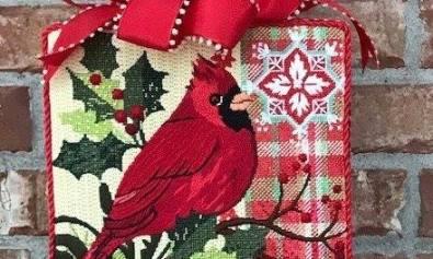 Maggie cardinal needlepoint
