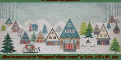 winter village needlepoint