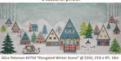 winter village needlepoint