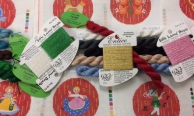 12 days needlepoint rnaments with threads