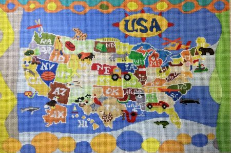 See the USA with this Needlepoint Sale