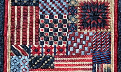 patriotic, counted canvas, fourth of july