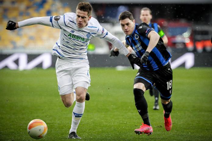 «Динамо» сыграло вничью с «Брюгге» в первом матче 1/16 Лиги Европы