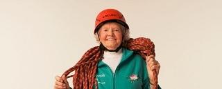 101-летняя Дорис Лонг — любительница промышленного альпинизма