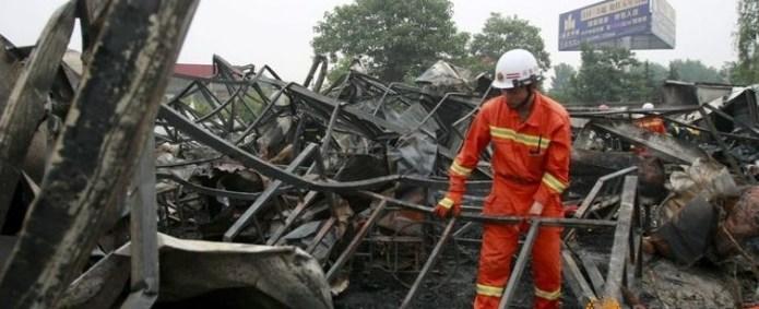 Десятки китайских пенсионеров сгорели в доме для престарелых