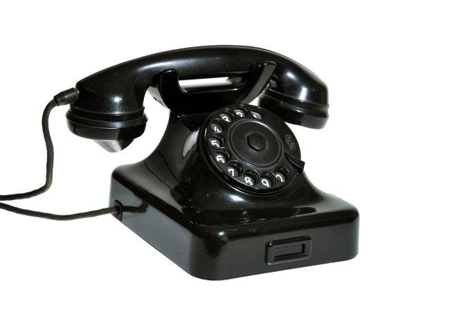 старый телефон стационарный