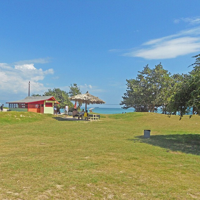 #NAPerfectWorld blue #skies and #green hills cascading into the #beach. #Jamaica
