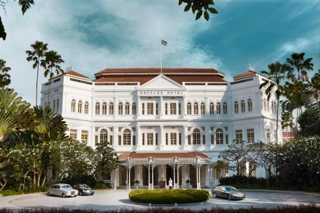 Facade of Raffles Hotel today.