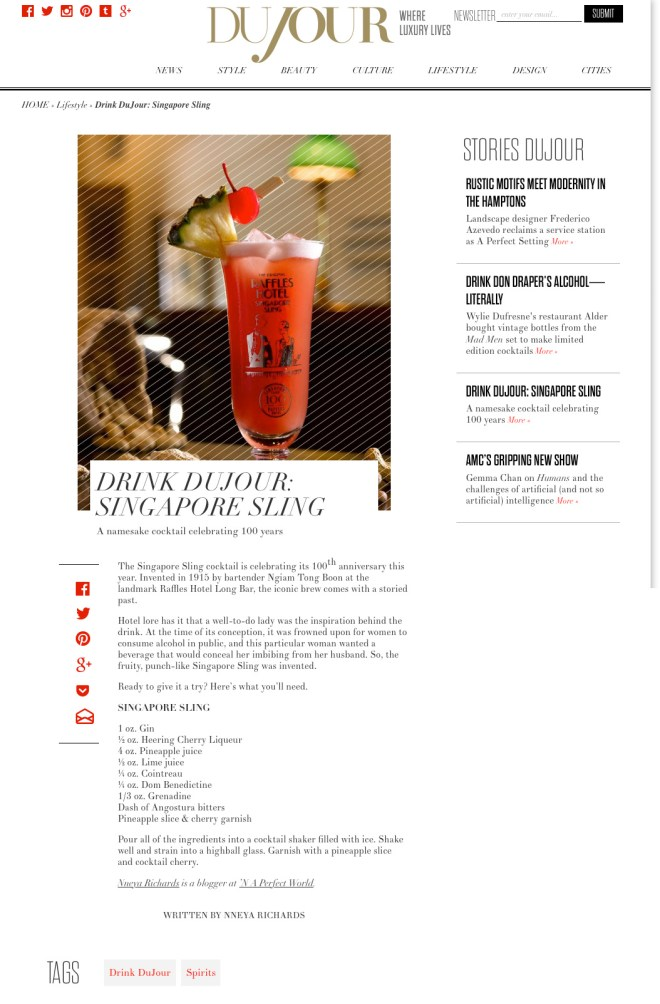 DuJour.com - 6.26.15 - Drink Du Jour_Singapore Sling copy