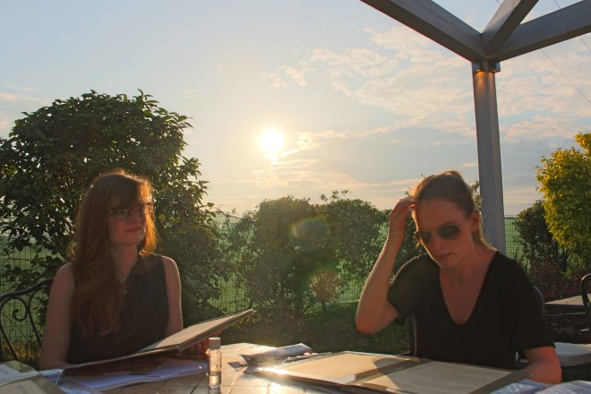 End of the day dining at Villa della Rosa