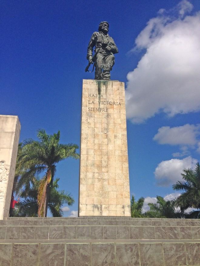 Che Guevara Statue in Revolution Square with Hasta La Victoria Siempre