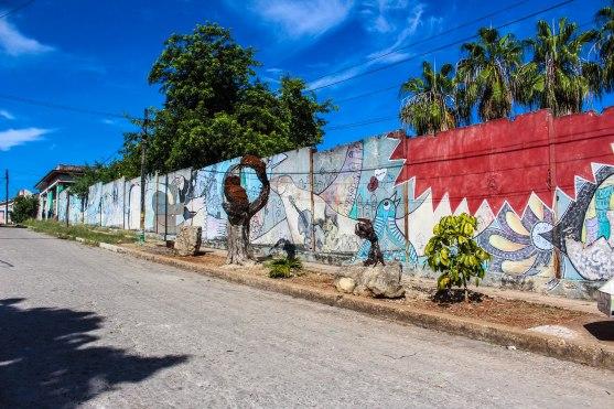 One of Muraleando many murals in their neighborhood.