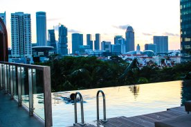 Imagine watching the sunrise during morning laps in this gorgeous infinity pool at Park Royal on Pickering