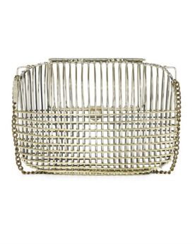 ANNDRA NEEN LARGE TWO TONE CAGE CLUTCH - personal favorite of mine