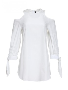 TIMO WEILAND - LONG SLEEVE COLD SHOULDER POPLIN BLOUSE