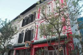 beautiful colours on shophouses