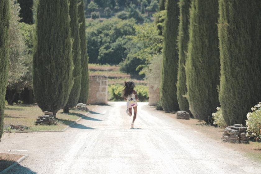 Nneya Richards Running Pucci in Provence