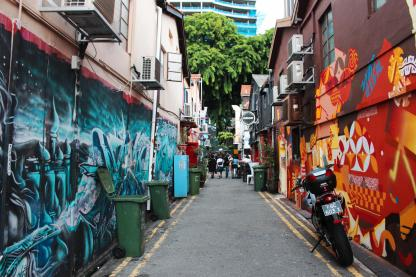 Street art in Haji Lane