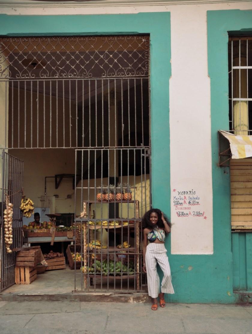 Nneya at Fruit Market in Centro Havana by Alistair Morgan