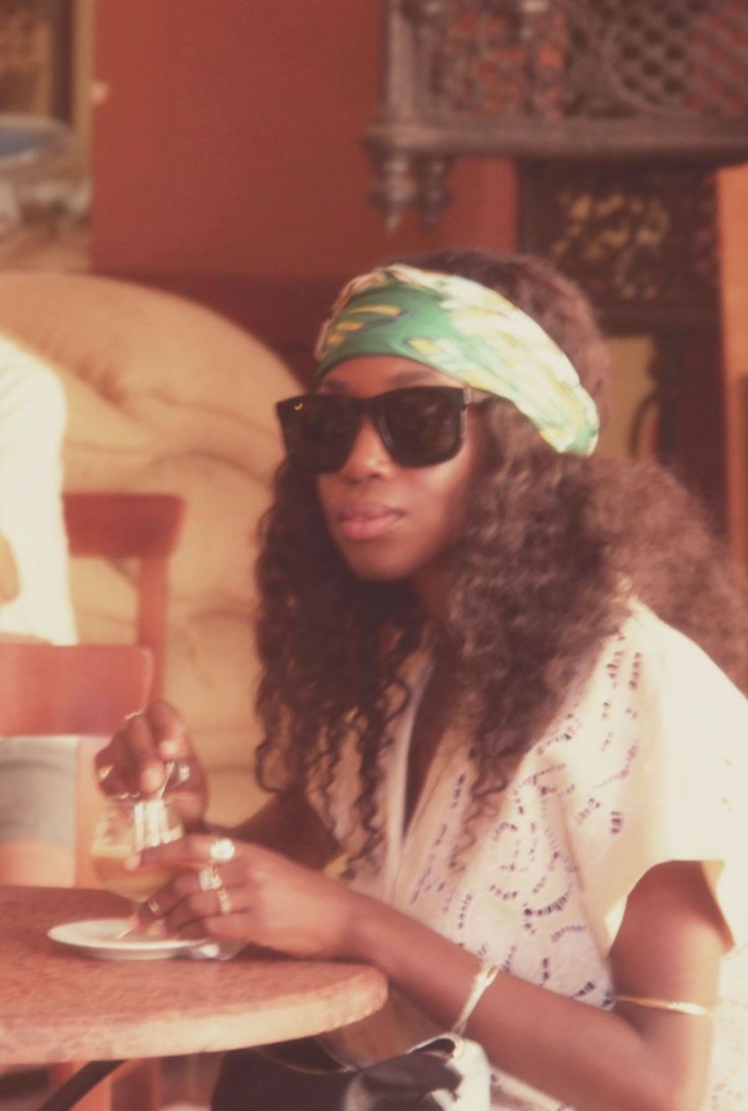 Nneya in Cafe O'Reilly in Havana by Isis