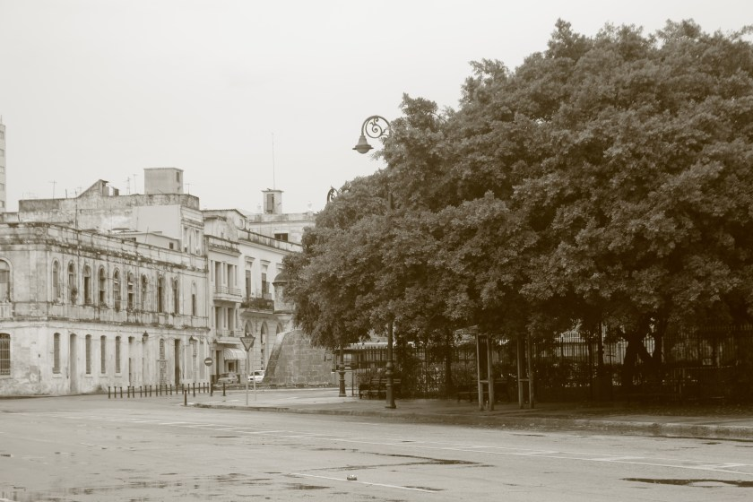 52 black and white plaza de armas after the rain by Nneya Richards