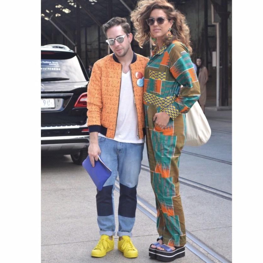 Adam with Australian stylist